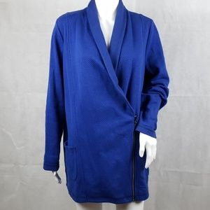 TALBOTS Blue Zip-Up Jacket